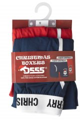 D555 Claus Christmas Boxers 2-pack