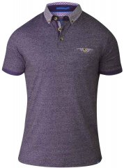 D555 DIEGO Short Sleeve Twist Polo Purple