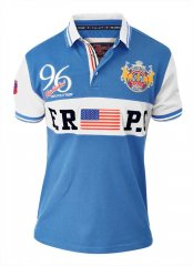 D555 ARYAN Florida Royal Racing Polo Blue/White