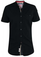 D555 Archer Collarless Shirt Black