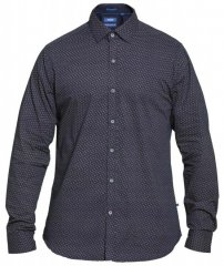 D555 Babworth Long Sleeve Shirt Navy