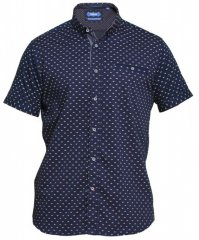 D555 Barrington Short Sleeve Shirt Navy