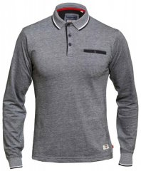D555 Brockville Long Sleeve Polo Grey