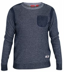 D555 Bryson Crewneck Sweater with Pocket Navy