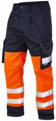 Leo Bideford Cargo Pants Hi-Vis Orange/Navy