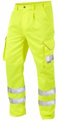Leo Bideford Cargo Pants Hi-Vis Yellow