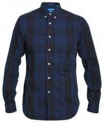 D555 Davenport Long Sleeve Shirt Navy