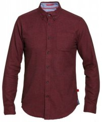 D555 Dawson Textured Shirt Dark Red