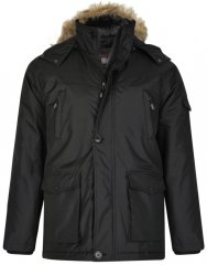 Kam Jeans KV97 Padded Winter Jacket Black