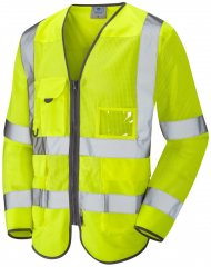 Leo Burrington Coolviz Superior Long Sleeve Waistcoat Hi-Vis Yellow
