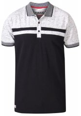D555 Spider Cut And Sew Jersey Polo Black