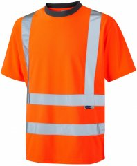 Leo Braunton Coolviz T-shirt Hi-Vis Orange
