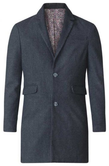 D555 Terry Checked Overcoat Charcoal - Jakid - Joped, suured suurused: 2XL – 8XL