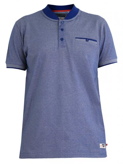 D555 Owen Colorless Polo Blue - Polosärgid - Meeste suured polosärgid 2XL – 8XL