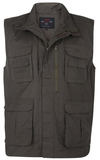 Kam Jeans Action Vest Olive - Jakid - Joped, suured suurused: 2XL – 8XL