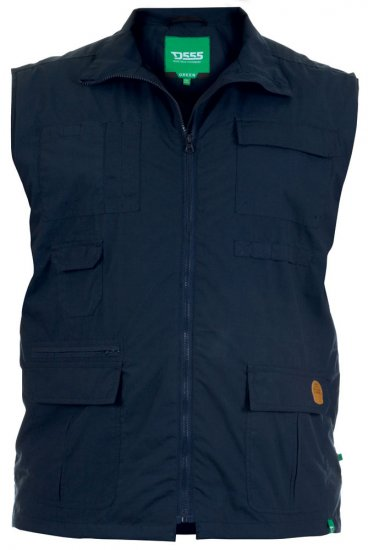 D555 Jake Vest Navy - Jakid - Joped, suured suurused: 2XL – 8XL