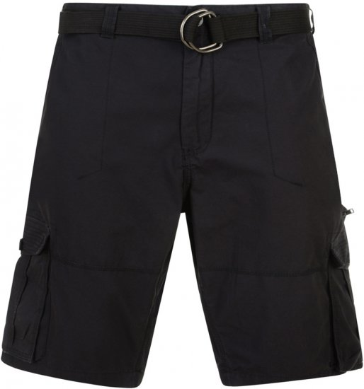 Kam Jeans Belted Cargo Shorts Black - Lühikesed Püksid - Lühikesed Püksid suured suurused: W40-W60