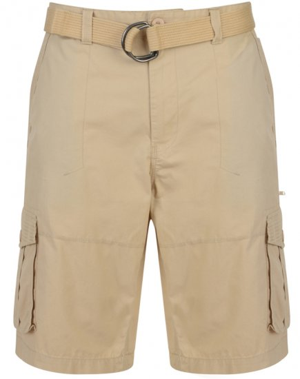 Kam Jeans Belted Cargo Shorts Stone - Lühikesed Püksid - Lühikesed Püksid suured suurused: W40-W60