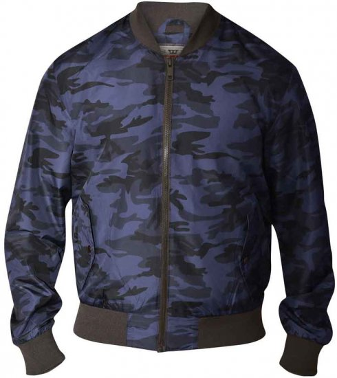 D555 CAMO Lined Camouflage Bomber Jacket Navy - Jakid - Joped, suured suurused: 2XL – 8XL