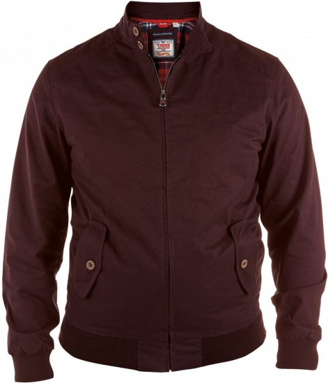 D555 Windsor Cotton Harrington Jacket Burgundy - Jakid - Joped, suured suurused: 2XL – 8XL