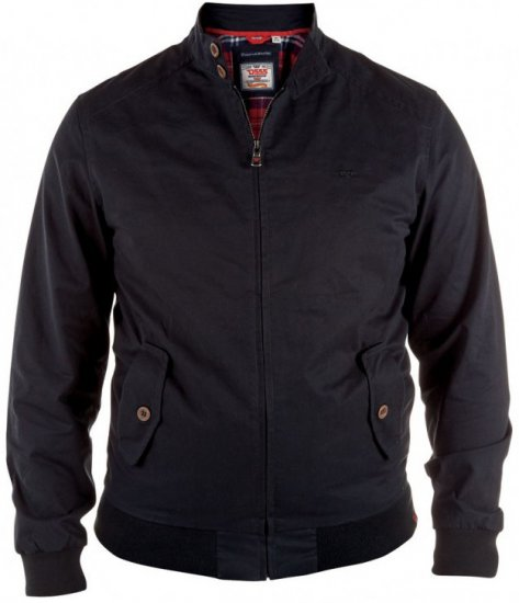 D555 Windsor Cotton Harrington Jacket Navy - Jakid - Joped, suured suurused: 2XL – 8XL