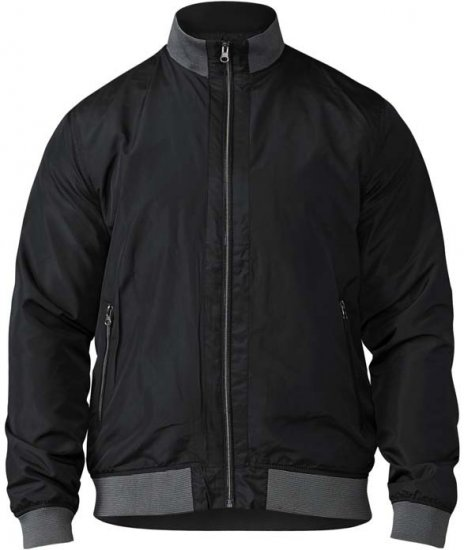D555 Felix Lightweight Bomber Jacket Black - Jakid & Vihmariided - Joped, suured suurused: 2XL – 8XL