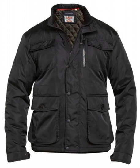 D555 Brentford Jacket Black - Jakid & Vihmariided - Joped, suured suurused: 2XL – 8XL
