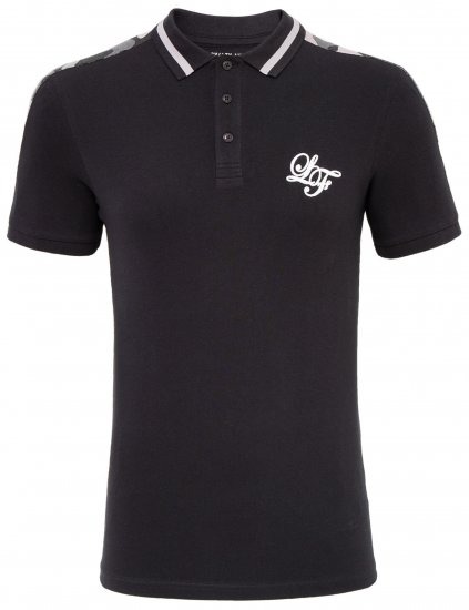 Loyalty & Faith Element Polo Black - Polosärgid - Meeste suured polosärgid 2XL – 8XL