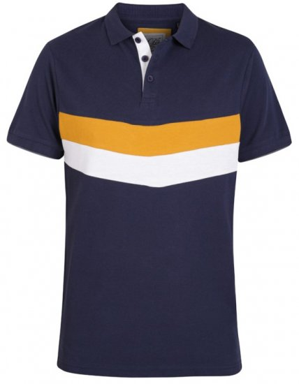 D555 Hopkins Polo Navy - Polosärgid - Meeste suured polosärgid 2XL – 8XL