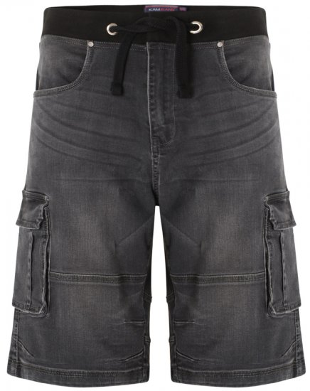Kam Jeans Dito Denim Shorts Charcoal - Lühikesed Püksid - Lühikesed Püksid suured suurused: W40-W60