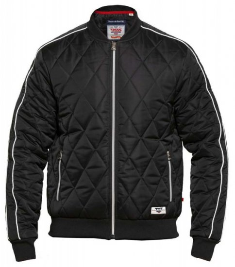D555 Skipton Quilted Bomber Jacket Black - Jakid - Joped, suured suurused: 2XL – 8XL